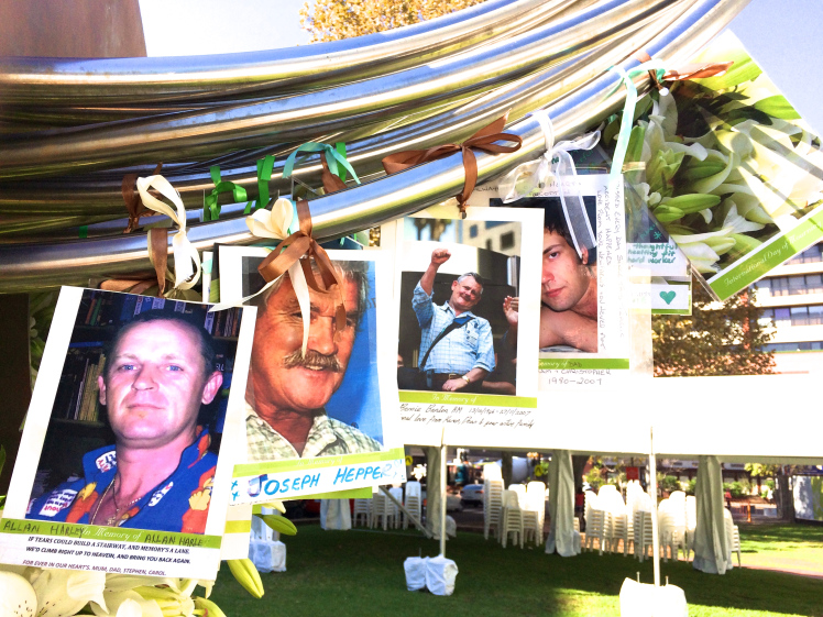 Memory Lines of those lost to work related tragedy