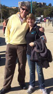 Karen Banton with BBF Founding Director Prof Bruce Robinson